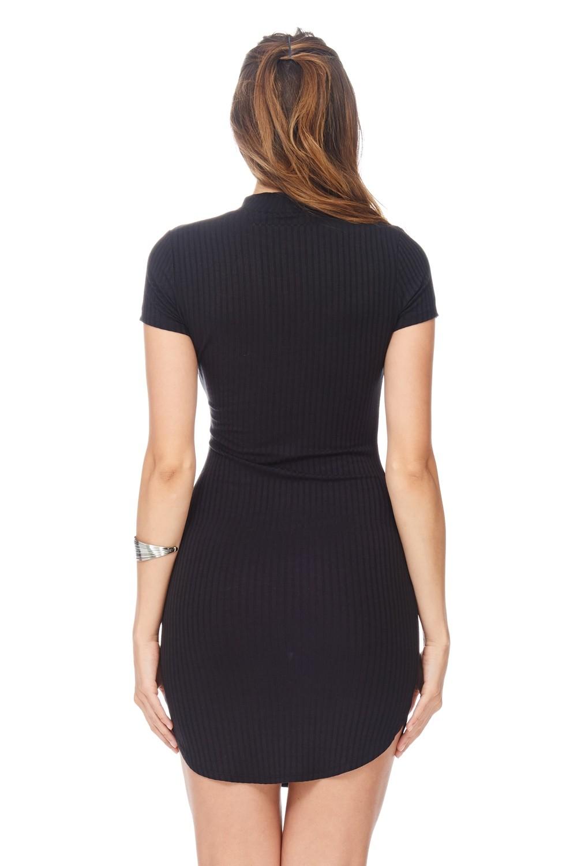 Bodycon V-Neck Dress – Tharnzie
